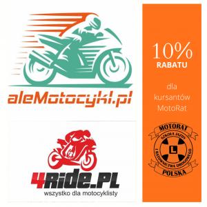 10% rabatu dla kursantów MotoRat w 4Ride i aleMotocykl! - obraz representatywny